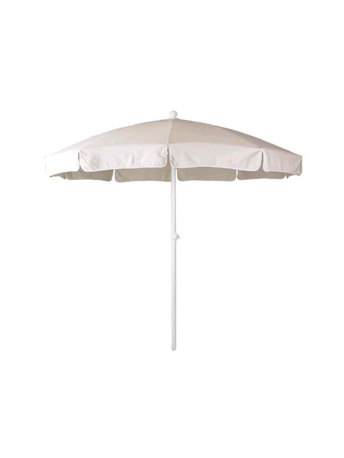 Pool parasol ø 200 white lacquered aluminium