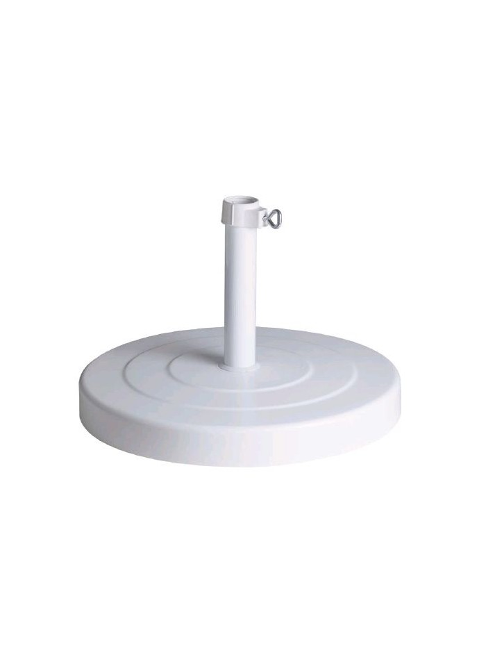 White fixed parasol base 30 Kg